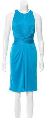 Issa Pleat-Accented Silk Dress