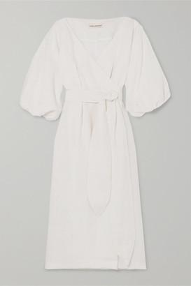 Mara Hoffman Net Sustain Francesca Hemp Wrap Dress - White