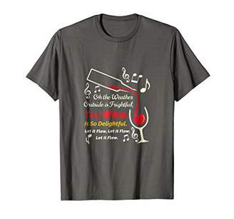Christmas Wine Shirt - Let It Flow