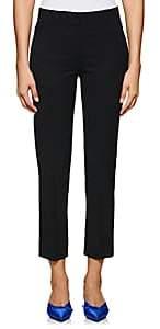 Barneys New York Women's Stretch-Wool Flat-Front Crop Trousers - Black