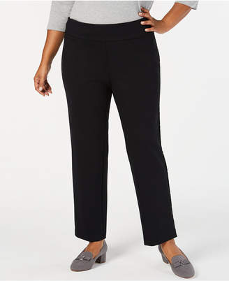 Charter Club Plus Size Pull-On Slim-Leg Pants