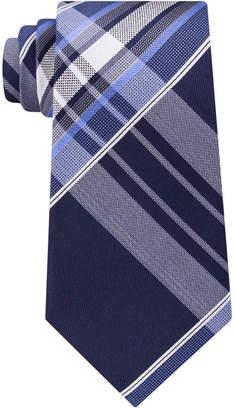 Kenneth Cole Reaction Men Aquamarine Plaid Tie