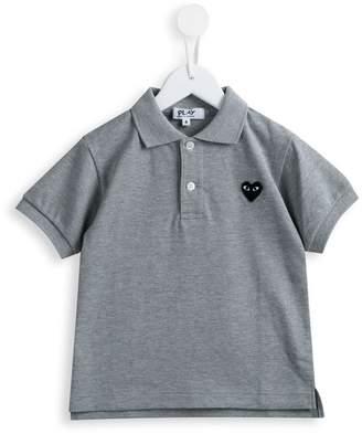 Comme des Garcons Kids heart patch polo shirt