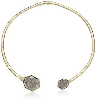 Kendra Scott Coursen Gold Plated Platinum Drusy Necklace