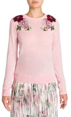 Dolce & Gabbana Floral Embroidered Cashmere Sweater