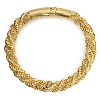 Alexander McQueen Gold Metal Necklace
