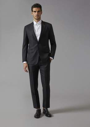 Giorgio Armani Wool And Silk Soft Line Suit