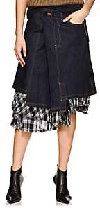 Comme des Garcons Women's Asymmetric Denim Skirt - Indigo