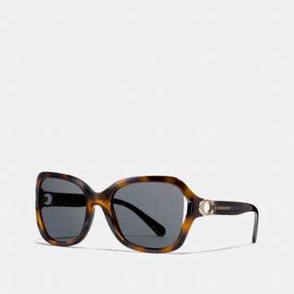 Coach Signature Hardware Rectangle Sunglasses