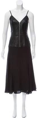 Balenciaga 2016 Leather & Silk Dress w/ Tags