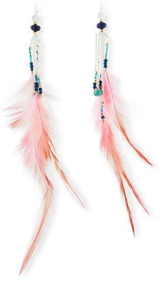 Nakamol Feather & Bead Drop Earrings