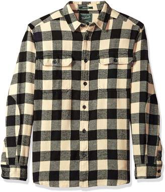 Woolrich Men's Oxbow Bend Flannel Shirt, Black/Red
