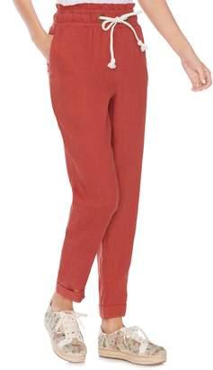 Vince Camuto Drawstring Linen Pants