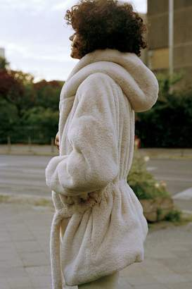 Urban Outfitters Faux Fur Hooded Robe Coat