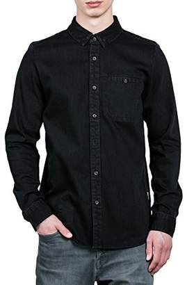 Volcom Men's Crowley Chambray Button Up Long Sleeve Shirt