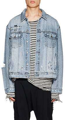 Ksubi Men's Punk Distressed Denim Jacket