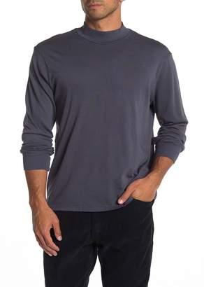 Save Khaki Heavy Supima Mock Neck Long Sleeve T-Shirt