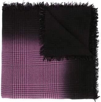 Faliero Sarti frayed check scarf
