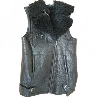 H&M Conscious Exclusive Conscious Exclusive Black Leather Leather Jacket for Women