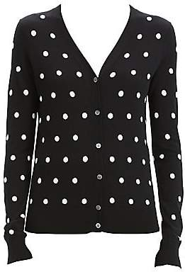 Theory Women's Merino Wool Polka Dot Cardigan