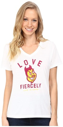 Life is good Love Fiercely Short Sleeve Tee $32 thestylecure.com