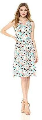 Donna Morgan Women's Sleeveless Printed Jersey Dress