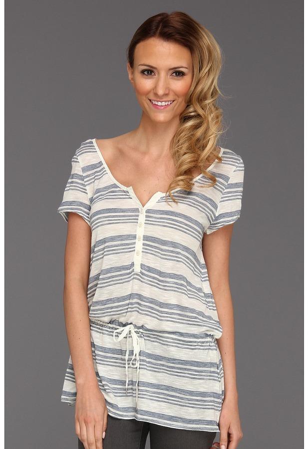 Calvin Klein Jeans Space Dye Stripe Top (Biro Blue) - Apparel