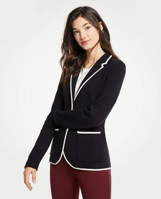 Ann Taylor Tipped Sweater Blazer