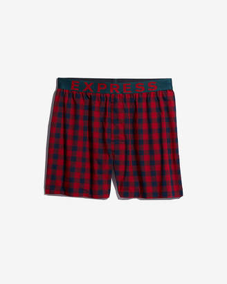 Express Plaid Contrast Waistband Boxers
