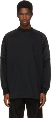Versace Black Oversize Quilted Shoulders Sweatshirt
