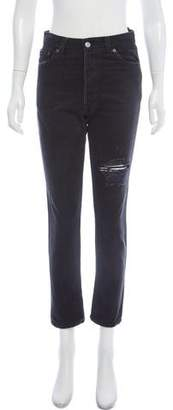 RE/DONE High-Rise Straight-Leg Jeans w/ Tags
