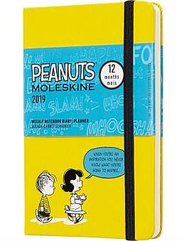 Moleskine 2019 Limited Peanuts - Weekly Notebook - Yellow