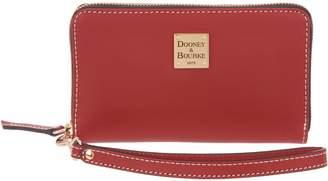 Dooney & Bourke Vachetta Leather Zip Around Phone Wristlet