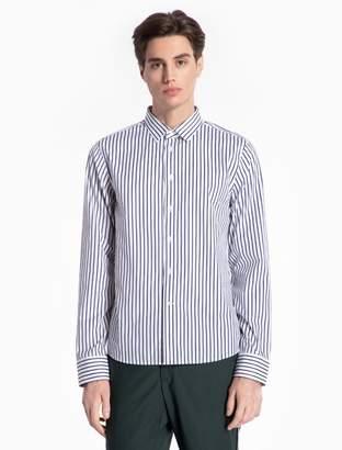 Calvin Klein colorblock oxford cotton woven shirt