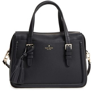 Kate Spade New York Orchard Street - Elowen Leather Satchel - Black $398 thestylecure.com