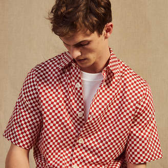 Sandro Checkerboard shirt in Japanese fabric