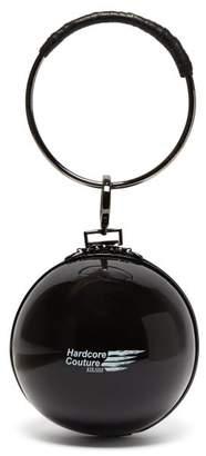 Marine Serre Dream Ball Rubber Clutch Bag - Womens - Black