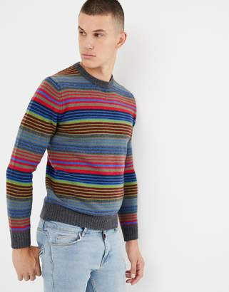 Multi Colored Striped Sweater Men Shopstyle Uk