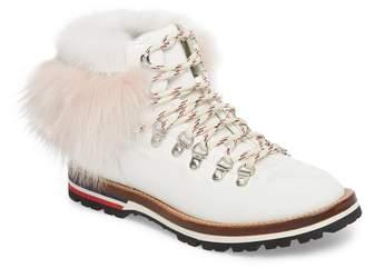 Moncler Solange Hiker Boot with Genuine Mink Fur & Fox Fur Trim