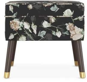 Sparrow & Wren Quincy Floral Print Square Ottoman - 100% Exclusive