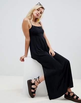 Asos Design Smock Pleated Maxi Dress