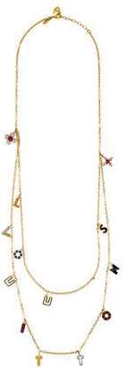 Louis Vuitton Love Letters Timeless Double Chain Necklace