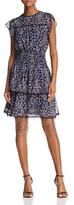 Aqua Lace-Trim Floral Smocked Dress - 100% Exclusive