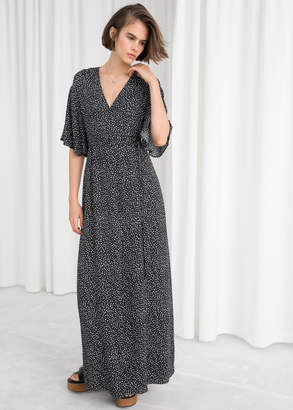 And other stories Kimono Wrap Maxi Dress