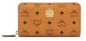 MCM Heritage Coated Canvas Zip Wallet