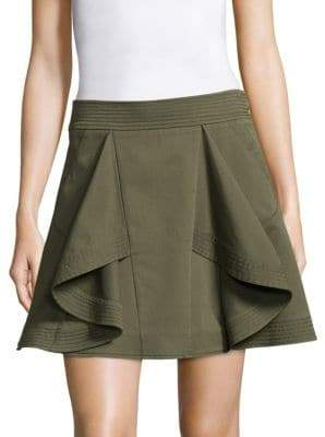 Tanya Taylor Tomi Ruffle A-Line Skirt