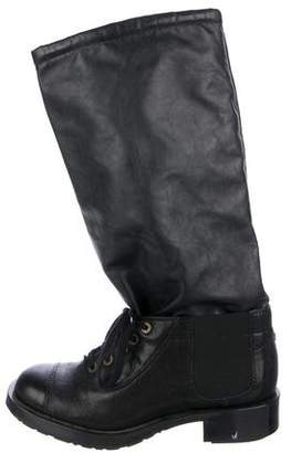 Chanel Quilted CC Mid-Calf Boots