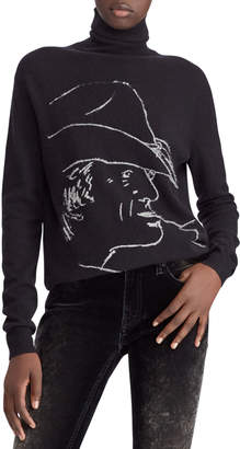 Ralph Lauren 50th Anniversary RL Silhouette Turtleneck Wool-Cashmere Sweater