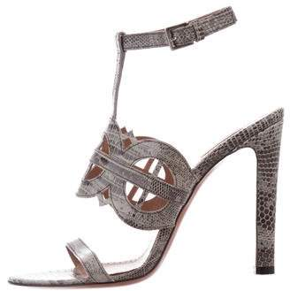 Alaia Embossed High-Heel Sandals