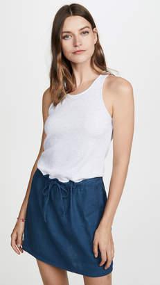 Monrow Rib Contrast Tank Dress